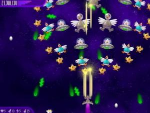 احد مستويات لعبة الفراخ فى الفضاء 4