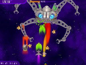 صورة لأحد وحوش لعبة الدجاج 4 فى الفضاء