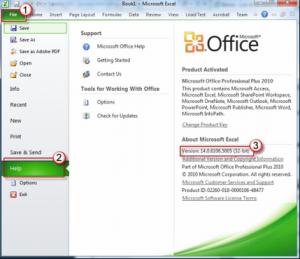 واجهة برنامج اكسل 2010 من اصدار برنامج اوفيس 2010