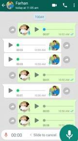 الرسائل الصوتية بأستخدام واتس اب
