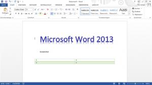 برنامج مايكروسوفت وورد 2013 من نسخة اوفيس 2013