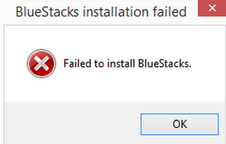 حل مشكلة failed to install bluestacks