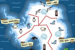 خريطة رحلة مطعم البطريق 2 والمستويات