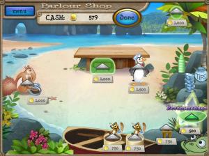 صورة توضح الاشياء التى يمكن ترقيتها فى لعبة محل مثلجات البطريق
