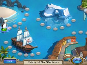 صورة لبعض مستويات لعبة البطريق صانع الايس كريم