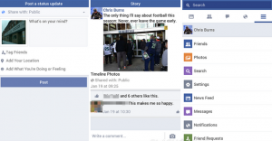 صور لبرنامج الفيس بوك على الموبايل