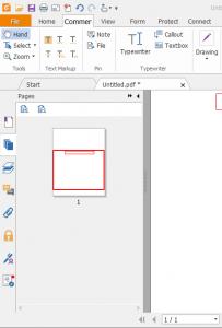عرض الصفحات على شكل مصغرات صور بأستخدام Foxit PDF Reader