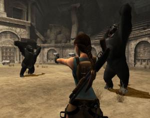 لارا كروفت فى مواجه مع القردة العملاقه